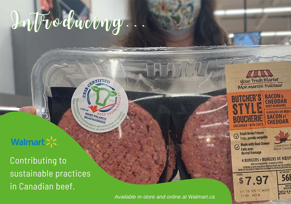 Walmart Canada announced May 10 that it is purchasing beef from farms and ranches that meet the standards of the Canadian Roundtable for Sustainable Beef. | Screencap via Twitter/@CRSB_beef