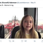 Mady Adamson, who is in Grade 3 in Kindersley, said she realized her classmates didn't understand much about farming so she decided to make her own short videos to help educate them. | Screencap via Twitter/@LexieAdamson